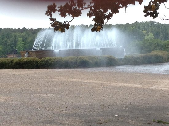 Hodges Gardens: One of the beautiful fountains
