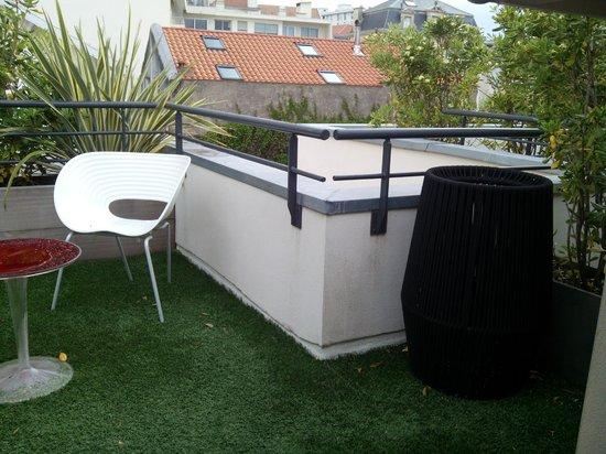 Hotel de Silhouette : terraza habitación