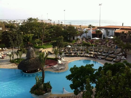 Hotel Riu Tikida Beach: view from our room