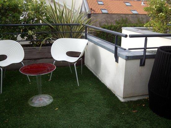 Hotel de Silhouette: terraza habitación