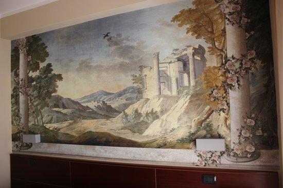 Hotel Il Monte: Il murales della nostra stanza
