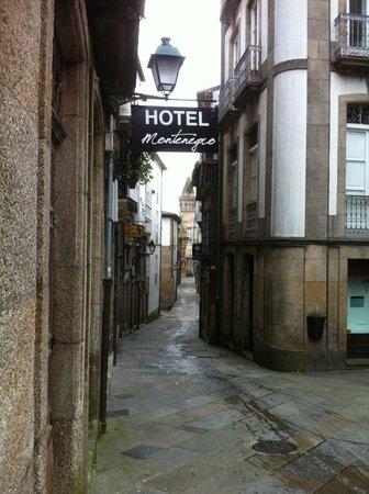 Hotel Montenegro Compostela: excelente localização (catedral ao fundo)