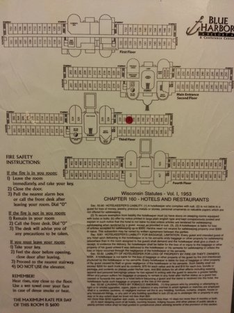 Blue Harbor Resort : Map of property -- LOTS of rooms! Big place.