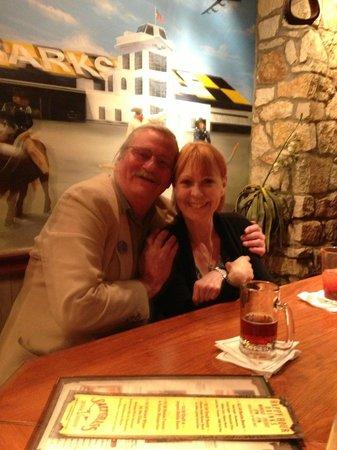 Saltgrass Steak House: My friend and I at the Saltgrass Bar