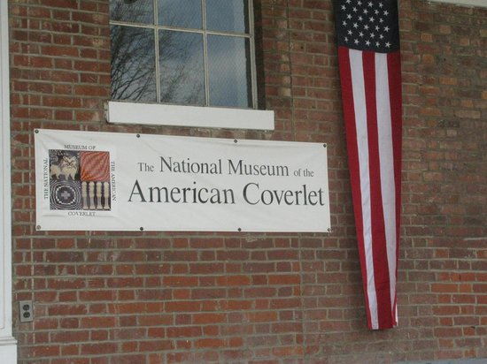 National Museum of the American Coverlet: This is the place, a former school.
