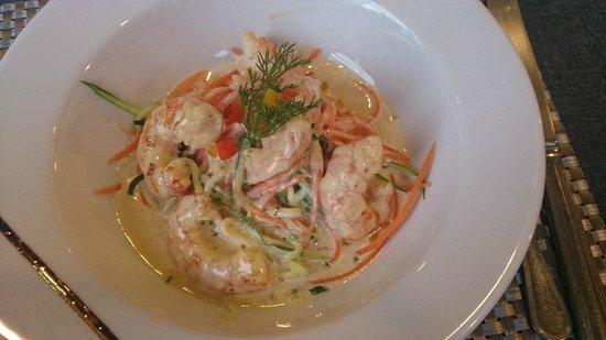 Hotel-Restaurant Le Spuller: Cassolette de Gambas