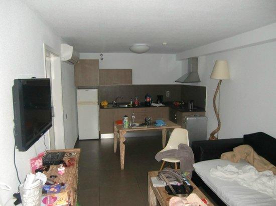 Tabaibas: Wohnraum mit Küche (Couch für die 3. Person)