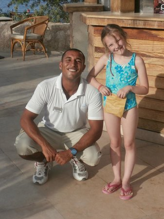 The Grand Hotel Sharm El Sheikh : Ahmed at the Pool with Daughter