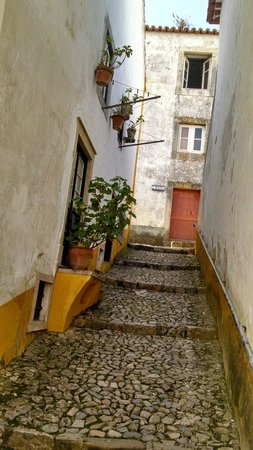 Pousada do Castelo de Obidos : vista de uma das vielas da cidade.