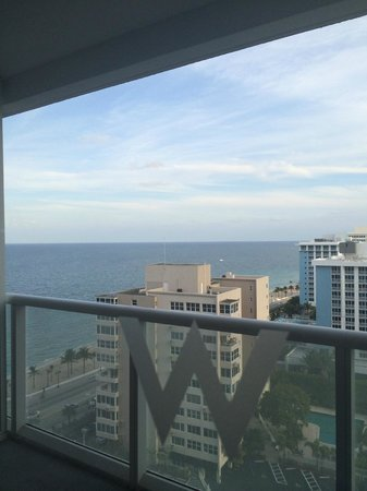 W Fort Lauderdale: View from 15t floor
