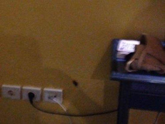 Park Club Europe Hotel: Cafard sur le mur (entre les prises et le bureau). Mauvaise qualité car l'image vient d'une vidé