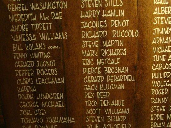 Bloody Mary's : Quelques noms célèbres