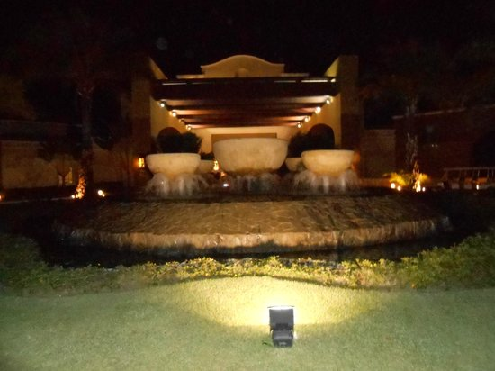 Now Larimar Punta Cana: The view as you enter the resort at night