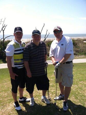 The Golf Courses of Palmetto Dunes: #10 Green on ocean, Robert Trent Jones course