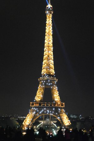 view of the tower from the Palais de Chaillot