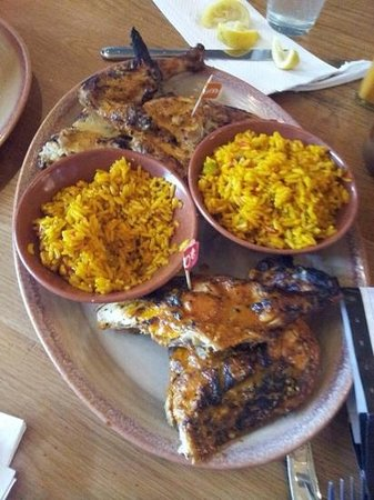 Nando's: chicken meal for three with portuguese rice