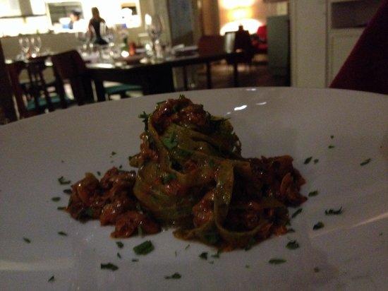 Ristorante Pescheria San Pietro : Tagliateli verde com vongoles. Levíssimo e saboroso. Equilíbrio entre massa e molho deixando uma