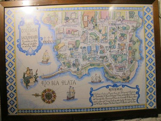 El Buen Suspiro: Mapa de Colonia na parede.