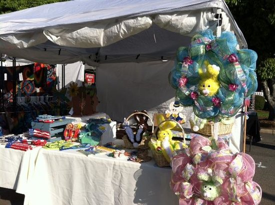 New Perry Hotel: Our booth at the Dogwood Festival