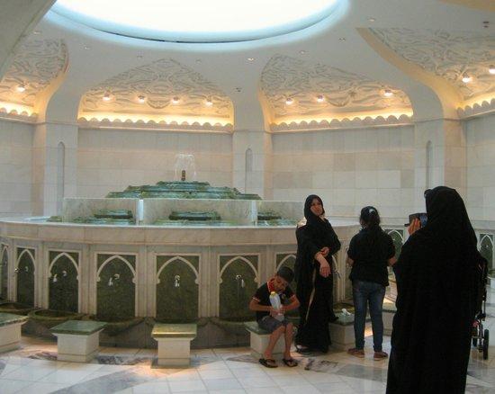 Mezquita Sheikh Zayed: Women's Ablution area