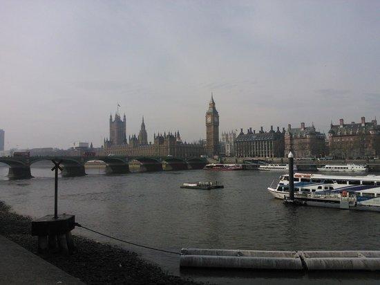 Palais de Westminster : Visão do outro lado do Tâmisa.