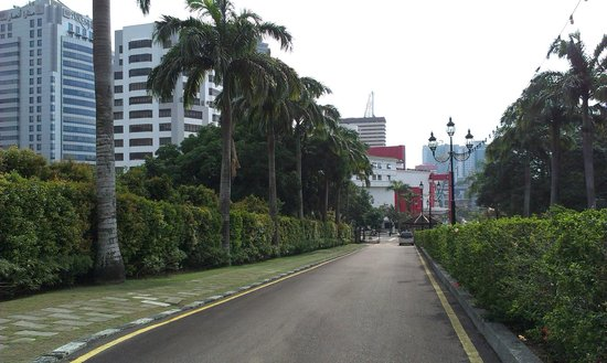 State Secretariat Building: view from Bukit Timbalan, part of Kotaraya could be seen