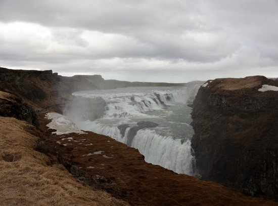 Gullfoss: View from the first viewing point