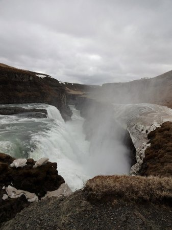 Gullfoss: View from furthest viewing point on the lower level
