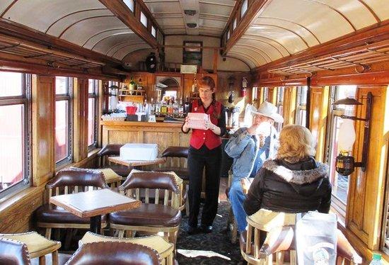 Durango and Silverton Narrow Gauge Railroad and Museum: The Parlor Car - so nice!