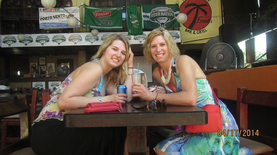 Franks bar and grill: My daughter and I