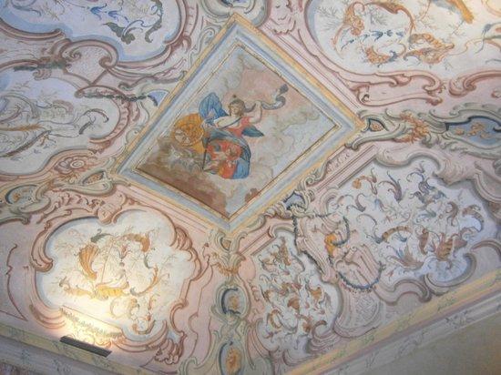 Palazzo Carletti: Soffitto salone Suite Albany