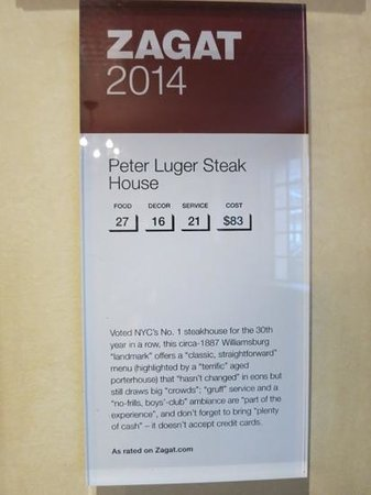 Peter Luger Steak House : says it all