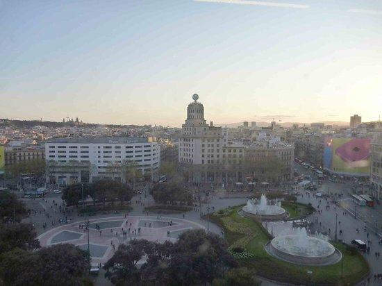 View from el corte ingles restaurant placa catalunya - El corte ingles plaza cataluna barcelona ...