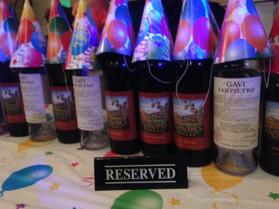 Tesoro Winery : we went through A LOT of wine that night!