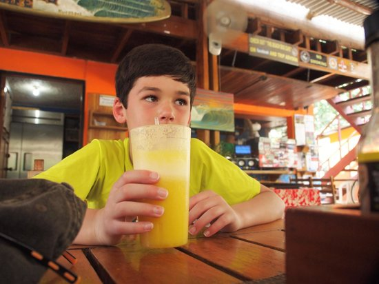 "Beach Dog Cafe : The ""Fuzzy"" my son's favorite smoothie"