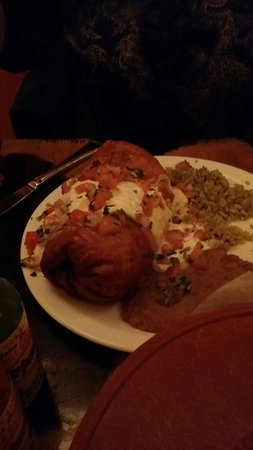 Armadillo Bar & Grill : The Chicken Chimichanga