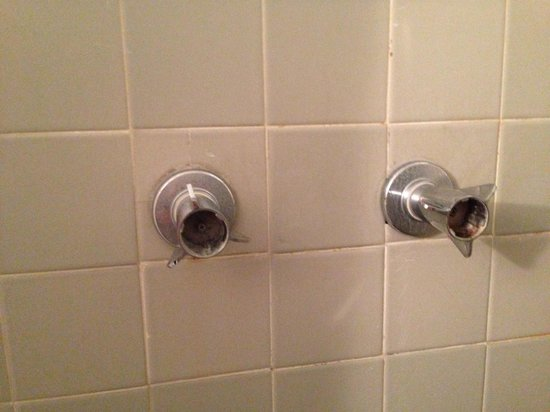New Yorker Boutique Hotel: Close up of shower knobs