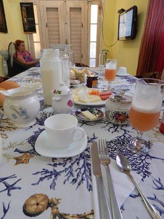 Casa Maura Habana Vieja: Parte del desayuno que nos preparó Maura