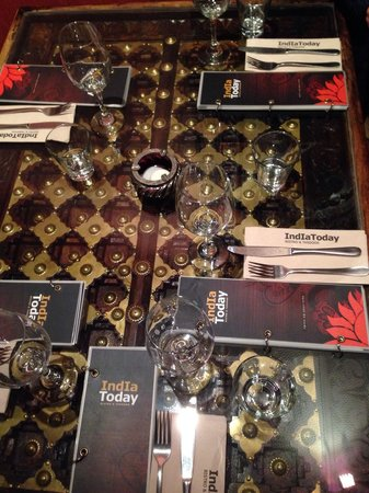 India Today Tandoor and Bistro: The table