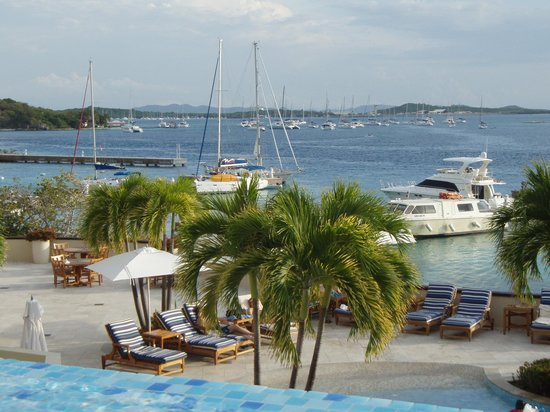 Scrub Island Resort, Spa & Marina, Autograph Collection : View from Infinity pool, with marina Cay and Trellis Bay in the distance.