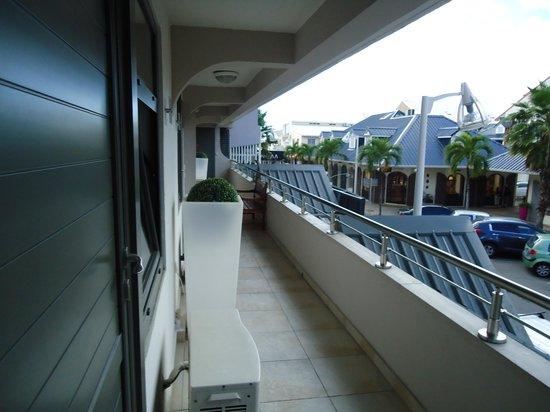Le Centr'Hotel : corredor  externo do andar