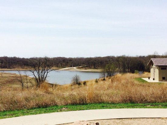 Honey Creek Resort State Park: View from the playground