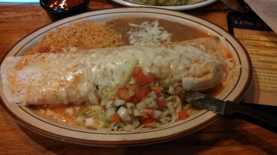 Plaza Mexico Mexican Restaurant: Awesome and Delicious California burrito is huge and yummy, was good to eat and reheated well
