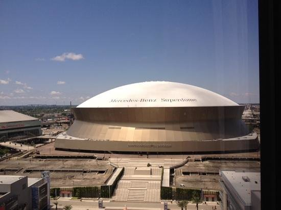 Hyatt Regency New Orleans: view from our room on 17th flooor