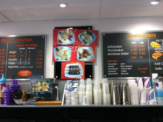 Merimbula Ice Creamery: Fabulous pancakes & waffles too
