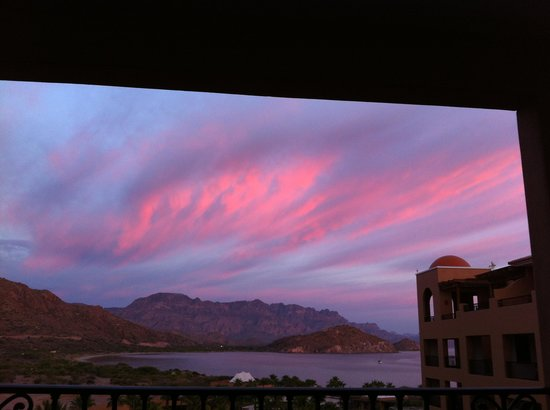 Villa del Palmar Beach Resort & Spa at The Islands of Loreto: Sunset from our balcony.