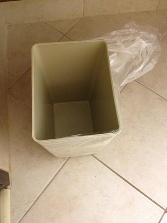 Microtel Inn by Wyndham Beckley: Trash can with ripped bag