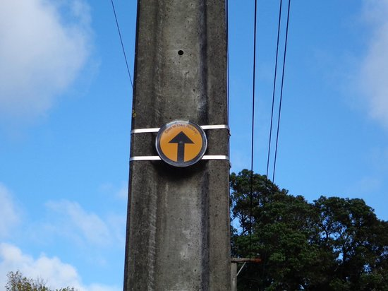Coast-to-Coast Walkway : Siga as placas