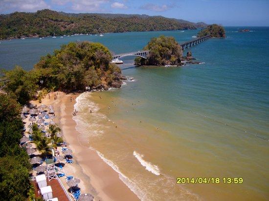 Grand Bahia Principe Cayacoa : vu sur la plage de l'hôtel