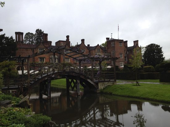Great Fosters: view of hotel with bridge